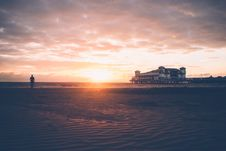 Free Sunset On Beach Resort Stock Images - 96114064