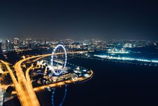 Free Singapore At Night Stock Photo - 96114100