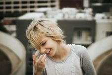 Free Short Haired Girl Laughing Stock Images - 96114114