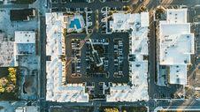 Free Block Of Buildings Aerial Stock Photo - 96114170
