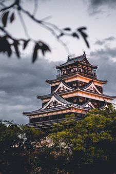 Free Hiroshima Castle Stock Image - 96114341