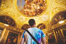 Free Man Standing In Cathedral Royalty Free Stock Images - 96114689