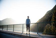 Free Man Standing On Bridge Stock Images - 96114834
