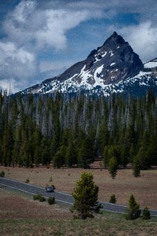 Free Gray Car On Gray Road Near Forest Under Blue Sky Stock Images - 96117824