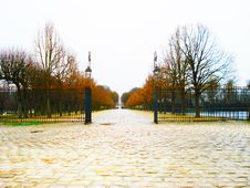 Free French Gates In The Fall Paris Stock Images - 96117994