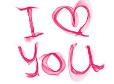 Free I Love You Text Royalty Free Stock Photos - 96118238