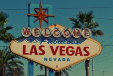 Free Welcome To Fabulous Las Vegas Nevada Signage Stock Image - 96160631
