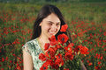 Free Girl On A Red Poppies Field Royalty Free Stock Photos - 9621298