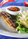 Free Hot Meat Dishes - Grilled Meat Stock Image - 9627041