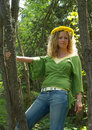 Free Curly Girl With Dandelion Chain Stock Photos - 9629543
