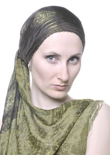 Free Woman With A Shawl Stock Images - 9621144