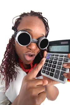Afro American Accountant Royalty Free Stock Photo