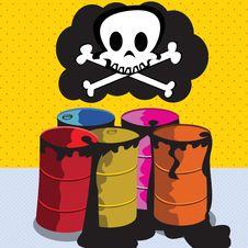 Free Toxic Barrels Stock Image - 9625931