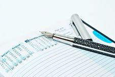 Pen And Notebook Royalty Free Stock Photography
