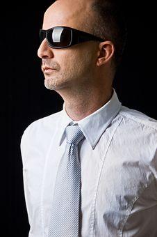 Free Man Wearing Eyewear Royalty Free Stock Image - 9626346