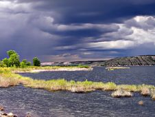 Stormy Lake Waterscape