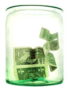 Glass Money Jar Stock Image