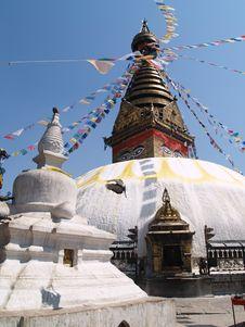 Free Nepalese Stupa Royalty Free Stock Photography - 9628457