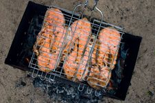 Free Grilled Fish Royalty Free Stock Photography - 9628677