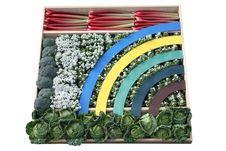 Rainbow Vegetables. Stock Photo