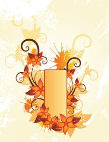 Free Autumn Floral Frame Royalty Free Stock Photo - 9629235