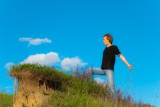 Free Man On A Hill Royalty Free Stock Photo - 9629675