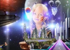 Free Galaxy Child Stock Photos - 96290283