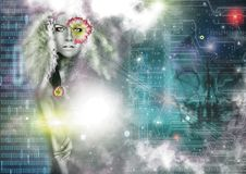 Free Galaxy Universe Woman Royalty Free Stock Image - 96290296