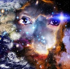 Free Galaxy Woman Royalty Free Stock Images - 96290339