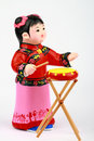 Free Clay Figure Of Asian Girl Playing Drum Royalty Free Stock Photography - 9634767