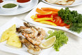 Free Fried Shrimps Decoration Pineapple Greenery Royalty Free Stock Photo - 9637125