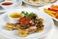 Free Fried Royal Shrimps Decoration Pineapple Stock Photography - 9637352