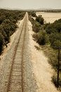 Free Railway Track Leading To The Horizon Royalty Free Stock Images - 9639589