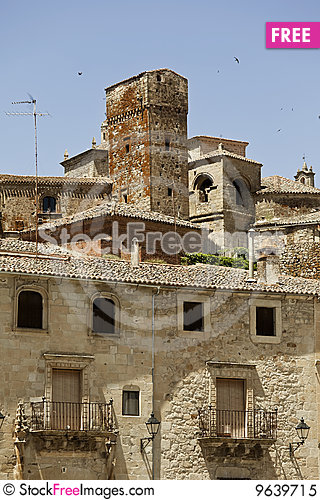 Free Trujillo Old City Royalty Free Stock Photo - 9639715