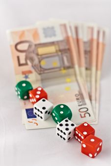 Dice And Money Royalty Free Stock Photo