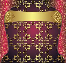 Free Antique Ottoman Gold Design Stock Photo - 9630670
