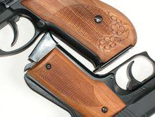 Free Two Handguns Stock Image - 9630701