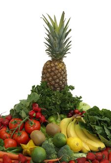 Free Fruit And Vegetable Arrangement Royalty Free Stock Photography - 9630707