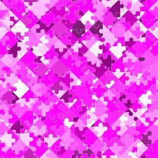 Free Manic Pink Jigsaw Royalty Free Stock Images - 9631469