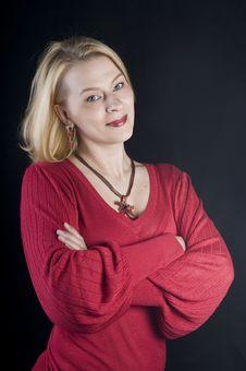 Free Portrait Of A Beautiful Blond Woman Stock Photo - 9632740