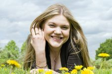 Free Young Adult Beautiful Girl Smiling Royalty Free Stock Photography - 9632757