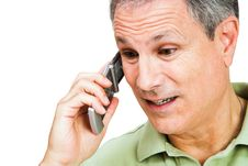 Free Close-up Of A Man On The Phone Royalty Free Stock Photography - 9632977