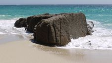 Rock On A Beach. Royalty Free Stock Images