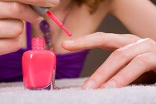 Red Nail Polish Royalty Free Stock Image