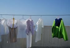 Free Drying Clothes Royalty Free Stock Image - 9635536