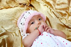 Free Cute Baby Portrait Royalty Free Stock Photography - 9635857