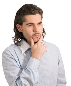 Free Worried Businessman Thinks Of Something Isolated Royalty Free Stock Photos - 9635858