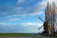 Free Windmills Royalty Free Stock Images - 9636129