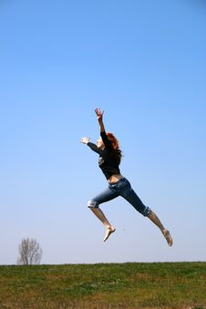 Free The Jumping Girl Stock Photo - 9636480