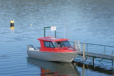 Free Speed Boat At The Jetty Stock Images - 9636824
